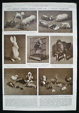 CARL FABERGE ANIMAL MODELS ROYAL COLLECTION TRUST 1pp PHOTO ARTICLE 1953