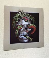 Skull Snake Gothic Interactive 3D Picture Lenticular Print  Wall Art Decor
