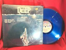 THE DEEP Motion Picture Soundtrack BLUE VINYL Donna Summer Vintage LP 1970s 12""