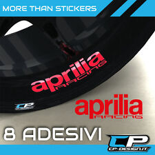 Logo adesivo per cerchi moto APRILIA RACING X8 rsv4 tuono rs sticker strip