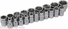 "20 Piece  Xi -on 3/8 "" Drive Socket Set -  super grab for damaged nuts with rail"