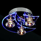 Contemporary Crystal Flush Mount Ceiling Pendant Fixture Lighting Chandelier