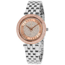 Michael Kors Mini Darci Crystal Pave Dial Ladies Watch MK3446