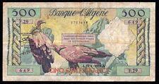Algeria 500 Francs 1958 P-117  F29  Prefix A-A  rare