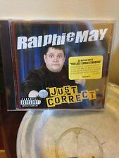 RALPHIE MAY  JUST CORRECT CD  NEW and *SEALED*  Comedy Stand Up Free Shipping