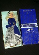 Rare silver navy boxed winter velvet barbie 80s vintage special edition doll