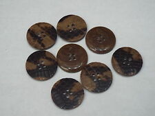 5pc 25mm Brown Mock Reptile Skin Cardigan Trouser Shirt Kid Baby Button 0299