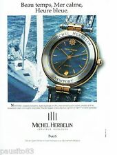 PUBLICITE ADVERTISING 116  1994  Michel Herbelin  montre Newport  quartz étanche