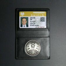Agents of S.H.I.E.L.D. Shield full Badge Leather Card Holder Phil Coulson card