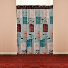 Inspirational Shower Curtain Stall Designer Home Fun Unique Bible Quotes Printed