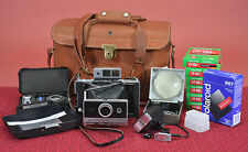 EX+ Modernized Polaroid 250 Instant Camera with Electronic Flash LOTS of EXTRAS