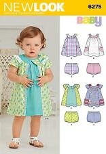 NEW LOOK SEWING PATTERN BABIES DRESS & PANTIES SIZE NB - L 6275