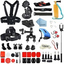 60in1 Essential Accessory Bundle Kit for Gopro Hero5 4 3+3 2-Sports Outdoor Kit