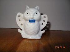 Vintage White owl Ceramic earring holder