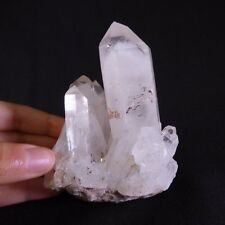 Natural Madagascan White Phantom Quartz Cluster - 101mm, 300g