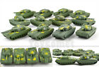 12 pcs Military Tanks Rotating Turret Plastic Toy Soldier Army Men Accessories