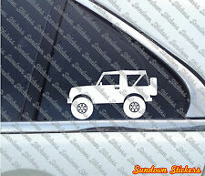 2X Lifted offroad truck stickers - for Suzuki Samurai SJ410 convertible4x4