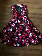 $448 NWT Kate Spade Falling Florals V-Neck Fit and Flare Dress Size 0