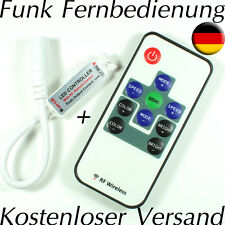 MINI RF Funk LED Controller Dimmer Fernbedienung LED Leiste Streifen Strip RGB