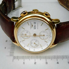 LONGINES AUTOMATIC 18K GOLD CAL 674 REF.L4.679.6 BOX AND INTERNATIONAL GUARANTEE