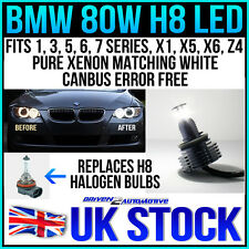 H8 80W CREE BMW LED ANGEL EYES MARKER: E82,E87,E88,E90 (LCI),E92,E93,X1,X5,X6