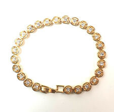 ELEGANT LADIES GOLD DIAMANTE MULTI LAYER BRACELET (SR)