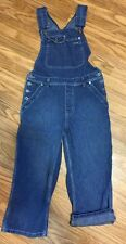 SILVER JEANS Womens Denim Medium Wash Blue Jean Capris Bib Overalls Size 13 VGC