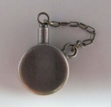 Vintage Sterling Silver Canteen Bracelet Charm - Stopper Attached With Chain