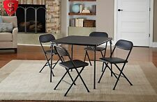 Card Table Set Folding Chairs Dining Room Kitchen Party Furniture Poker 5 Piece