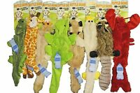 "8 Bottle Skins Stuffing Free Furry Dog Puppy 20"" Toys w/Squeakers Raccoon,Fox"
