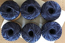 6 Sks Katia Idea Jeans Beautiful Cotton Mix Ribbon Worsted Yarn Indigo Denim