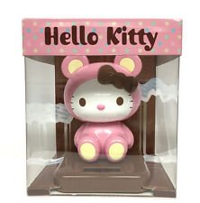 Sanrio Hello Kitty Solar Powered Toy - Pink Chocolate Bear Costumed (5c95-pink)