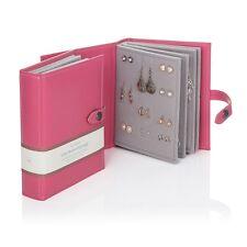 Gran Pequeño Libro de Pendientes Rosa Joyería Caja de almacenamiento de 4 Páginas Libro Regalo De Navidad