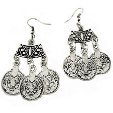 Tibetan Coin Earrings Boho Bohemian Ethnic Gypsy Mystic Jewellery Gift A191