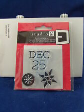 NEW STUDIO G CLEAR STAMP SET DECEMBER 25 SNOWFLAKES HOLIDAY CHRISTMAS VC0049