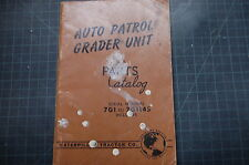CAT Caterpillar Auto Patrol Grader Unit Parts Manual Book spare list catalog