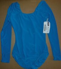 NWT Dance Long Sleeve Scoop Neck Leotard Matte Spandex Adult/Child Many Colors