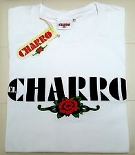 """EL CHARRO"" T-SHIRT BIANCA (TG.XXL) COTONE MADE IN ITALY VINTAGE STYLE PANINARO"