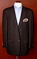 Ermenegildo Zegna Men's Black Dobby Weave Wool Blazer Sport Coat 44R 44 Regular