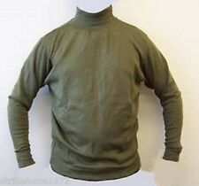 Army Issue AFV Crewmans Thermal Olive Green Roll-Neck Under Shirt - Size X LARGE