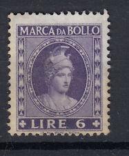 1959 DEA ROMA MARCA DA BOLLO 6 LIRE TESTA PICCOLA S.G. LEGGERMENTE OSSIDATA RARA