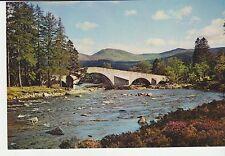 Vintage unused Arthur Dixon Postcard Old bridge of Dee, Invercauld, 3645g