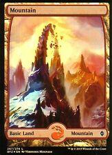 Mountain FOIL - Version 2 (Full Art) | NM/M | Battle for Zendikar | Magic MTG