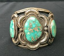 Cuff Bracelet * Native American Indian *Dead Pawn* Sterling & Turquoise