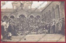 GUERRA DI LIBIA - REDUCI al SANTUARIO della GUARDIA 6-10-1912 COLONIE REAL PHOTO