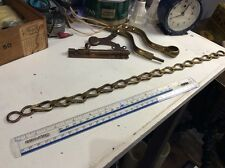 VINTAGE ANTIQUE BRASS TOILET CISTERN CHAIN PULL Large Brass Links Light Pull