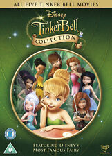 Tinkerbell collection 5 movie inc the Pirate Fairy Tinker Bell  WALT DISNEY