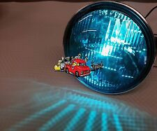 New pair Harley Davidson parade Blue glass sealed beam lights motorcycle scooter