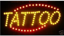 Ultra Bright LED Neon Light Animated Motion TATTOO Open Sign LB234