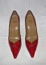 "Stuart Weitzman ""Kiss"" Red Quasar Patent Leather Pointy Toe High Heel Pumps 8M"